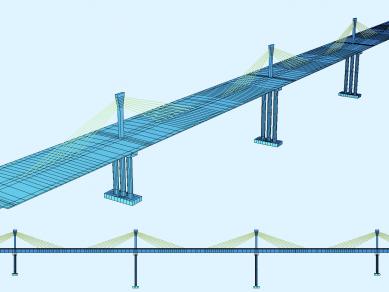 Проект 30U: Конструктивен проект на стоманобетонен вантов пътен мост - тип Extradosed