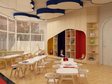 Проект 13B: Интериорният дизайн и мебелите за детска градина в кв. Горна Баня, гр. София