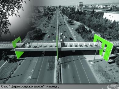 """Проект 60: Пешеходен мост над бул. """"Цариградско шосе"""", София"""