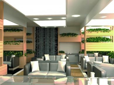 Интериорен проект за мезонетно кафе-сладкарница в партера на жилищна сграда