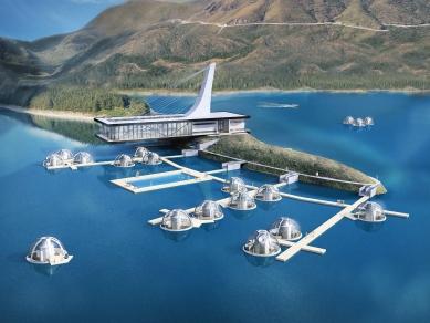 Проект 56: Почивен комплекс с плаващи къщи (капсули) – яз. Въча